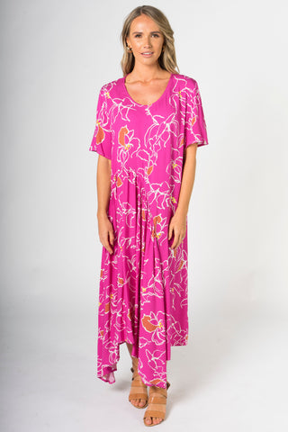 Kite Dress in Pink Paradise