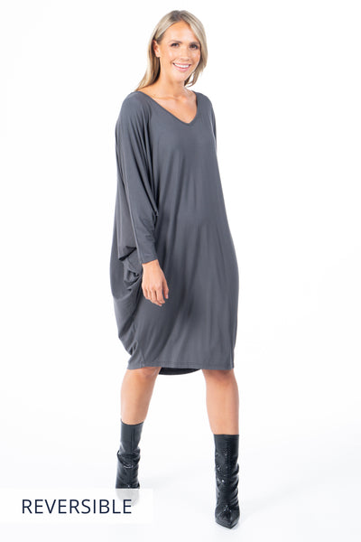 Long Sleeve Miracle Dress in Chrome