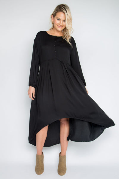 Long Sleeve Everyday Dress in Black