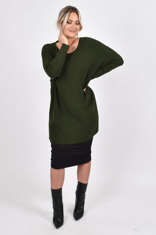 Lounge Tunic in Forest Green