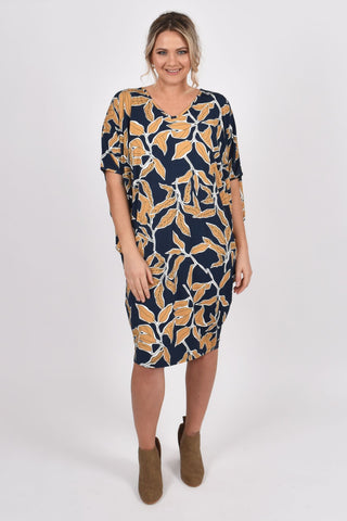 Miracle Dress in Amber Leaf