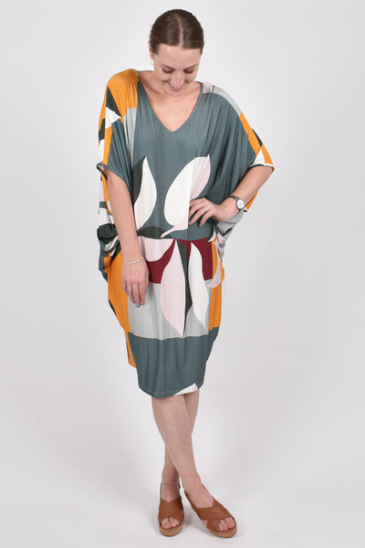 Miracle Dress in Green Leaf