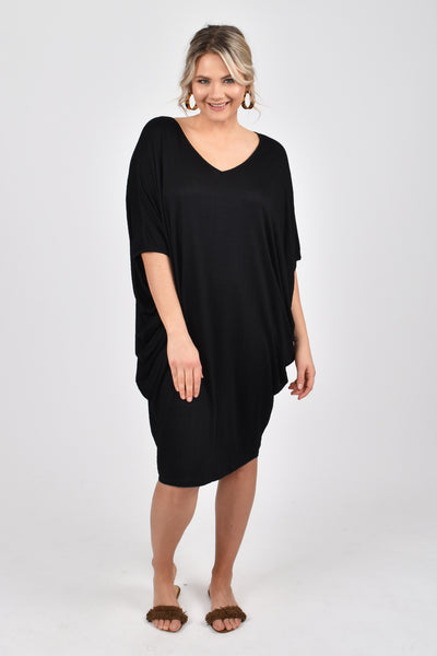 Miracle Dress in Textured Black
