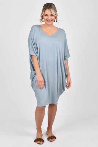 Miracle Dress in Textured Sky