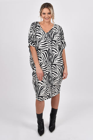 Miracle Dress in Zebra