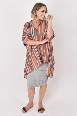 Miracle Shirt in Sunset Stripe