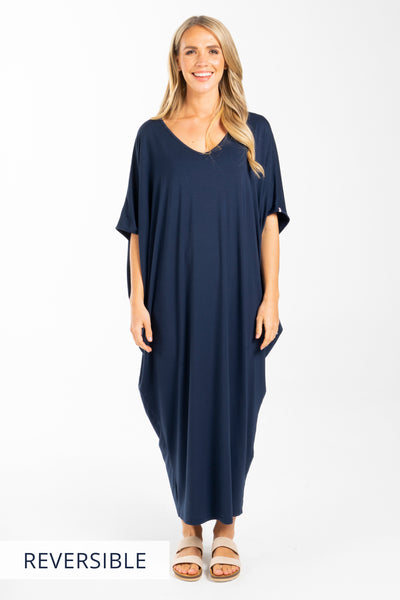 Maxi Miracle Dress in Navy