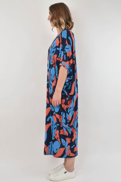 Maxi Miracle Dress in Falling Leaf