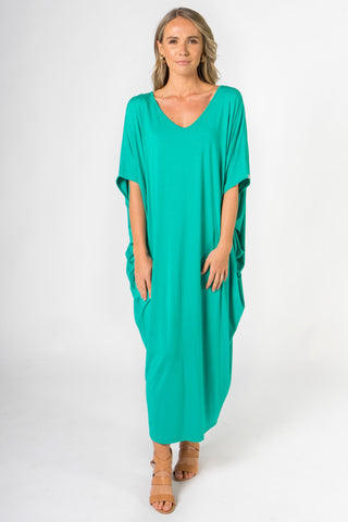 Maxi Miracle Dress in Peacock