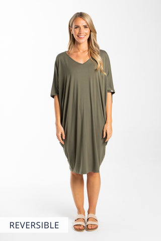 Miracle Dress in Khaki
