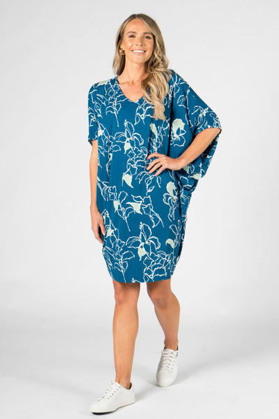 Miracle Dress in Navy Paradise