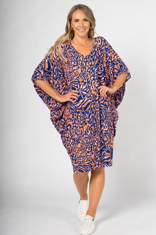 Miracle Dress in Ocean Leopard