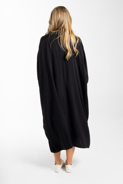 Miracle Shirt Dress in Black