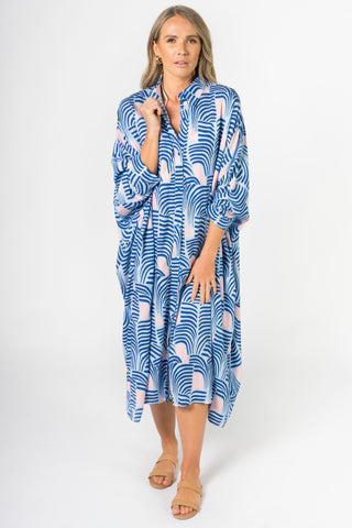 Miracle Shirt Dress in Tropical Palm
