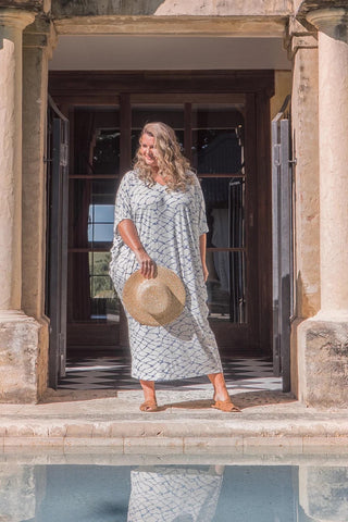 Maxi Miracle Dress in Water Front