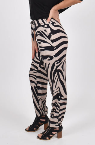 Nice Pant in Oak Zebra