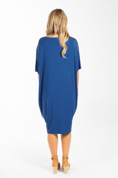 Optimism Dress in Sailor Blue