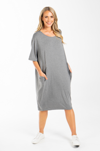 Optimism Dress in Marle Grey