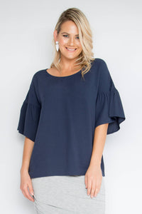Ornate Top in Midnight