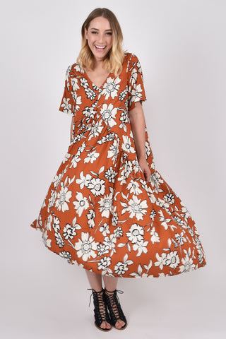 Peak Maxi Dress in Maple Wildflower