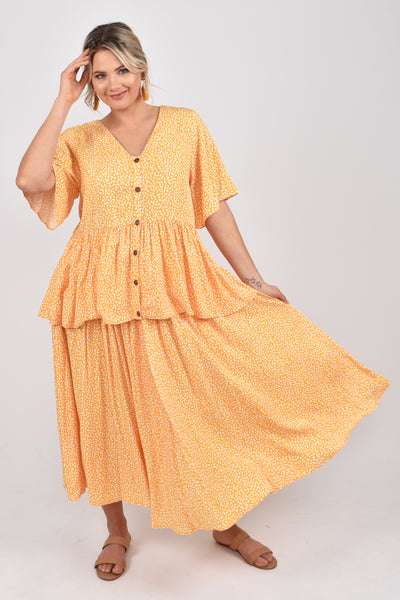 Twirl Tie Skirt in Sunshine