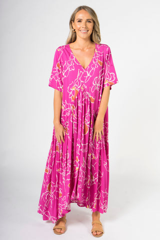 Peak Maxi Dress in Pink Paradise