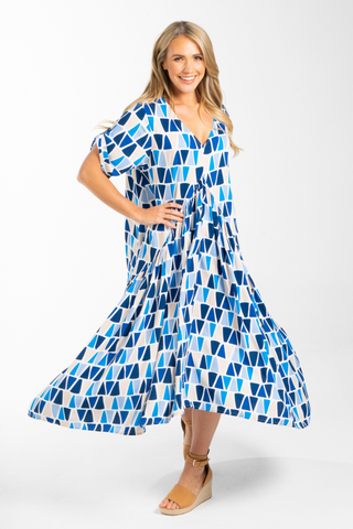 Peak Maxi Dress in Anchor Away