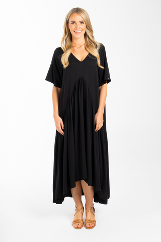 Peak Maxi Dress in Black