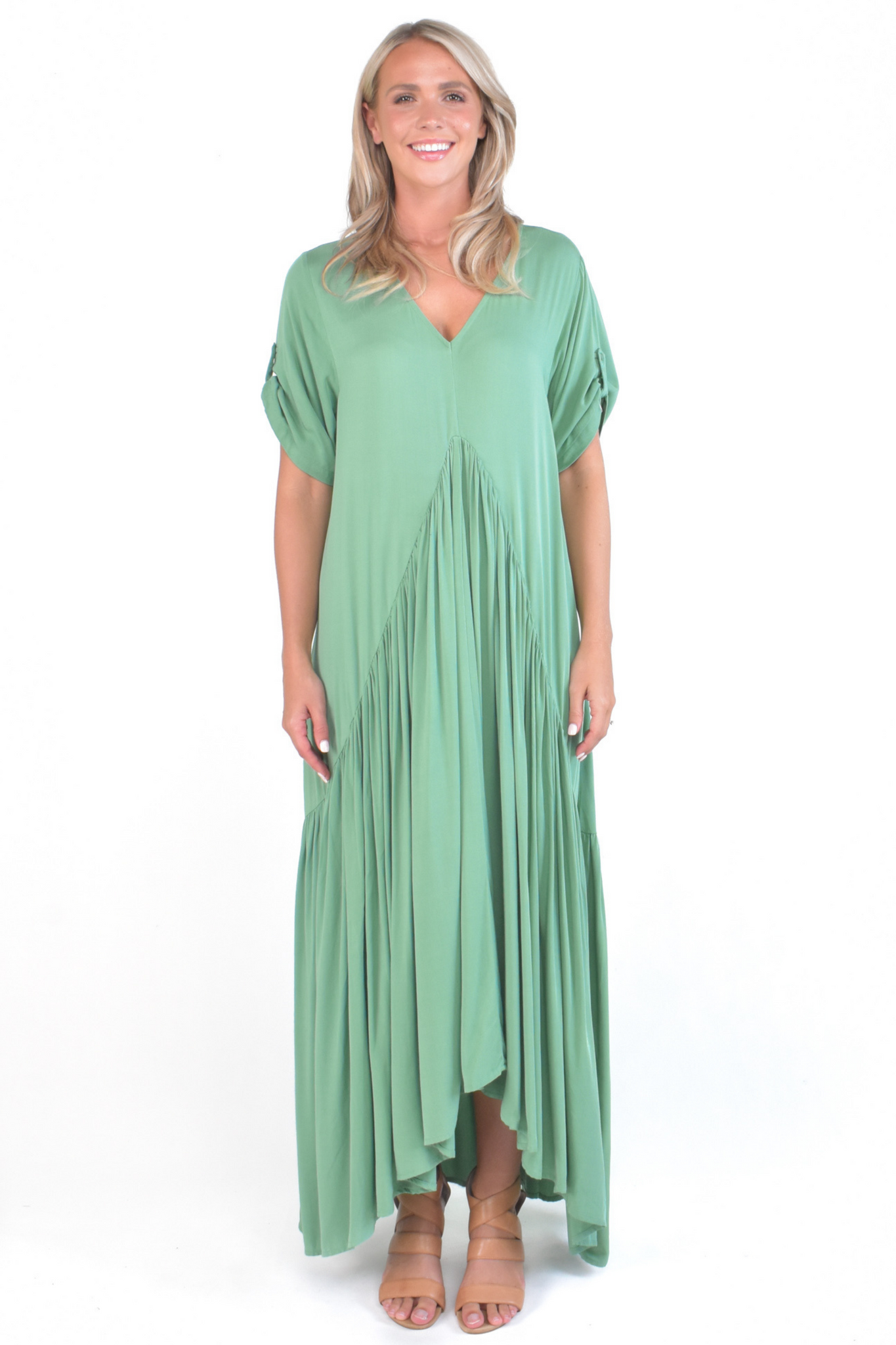 Peak Maxi Dress in Cactus