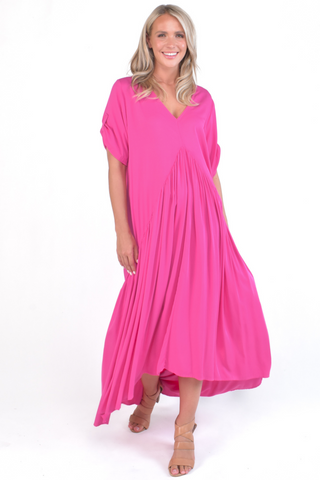Peak Maxi Dress in Hot Pink