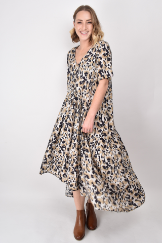 Peak Maxi Dress in Jungle Leopard