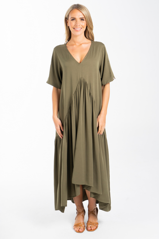 Peak Maxi Dress in Khaki