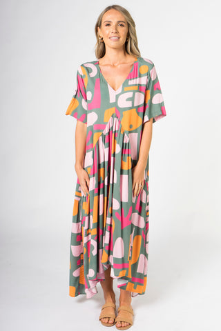 Peak Maxi Dress in Treasure Hunt