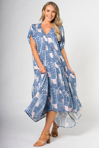 Peak Maxi Dress in Tropical Palm