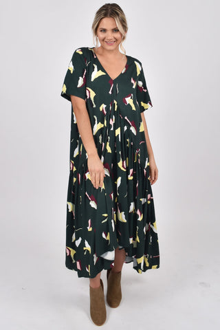 Peak Maxi Dress in Paradise Green