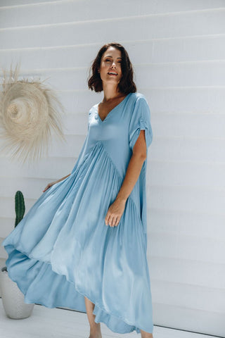 Peak Maxi Dress in Sky