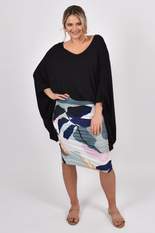 Ruche Skirt in Hidden Cove