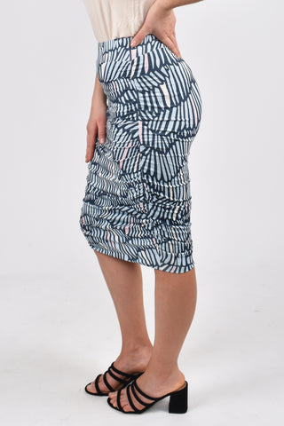 Ruche Skirt in Summer Rain