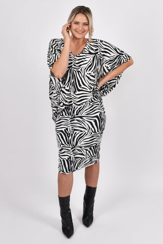 Ruche Skirt in Zebra
