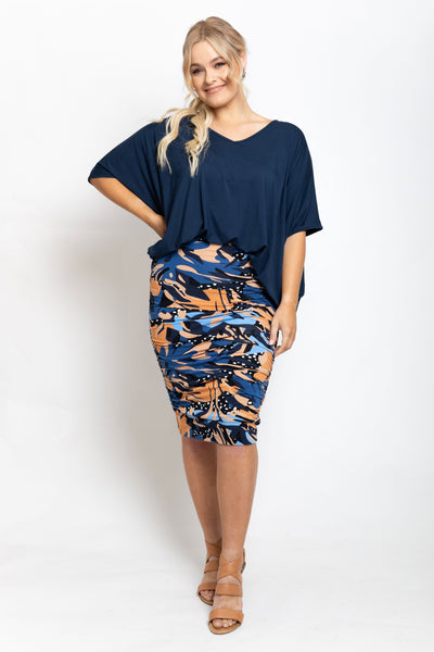 Ruche Skirt in Rockpool
