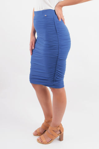 Ruche Skirt in Sailor Blue
