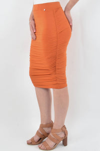 Ruche Skirt in Sunset