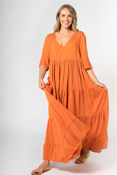 Ruffle Dress in Sunset