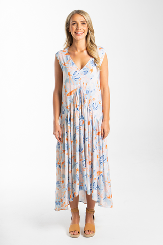 Sleeveless Peak Maxi Dress in Hidden Gem
