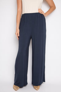 Wide Leg Pant in Midnight