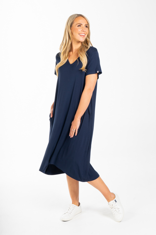 T-Shirt Dress in Navy