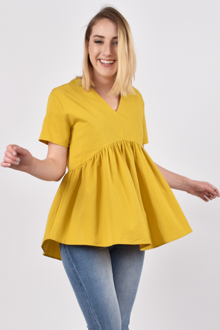 Wander Top in Mustard
