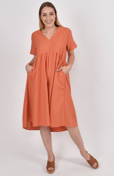 Wander Dress in Cayenne