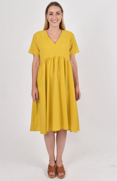Wander Dress in Mustard
