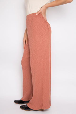 Wide Leg Pant in Rhubarb Knit